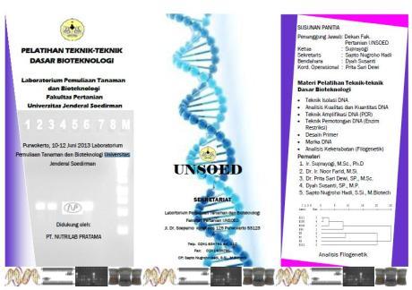 Leaflet Pelatihan Biotek UNSOED 2013
